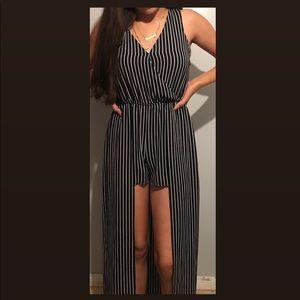 Striped Navy blue & white Short/ Dress